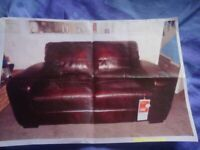 Leather Settee Brand New