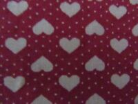 HANDMADE LOVELY LADIES TOTE BAG IN COTTON AND HEART DESIGN