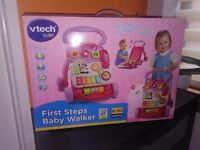 NEW V tech baby walker pink