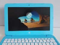 HP Stream Laptop In Lovely Blue Colour / Includes Very Fast SSD Hard Drive / Like New
