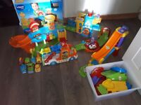 Vtech Toot Toot Bundle Garage Carrier Police Station Jump Vehicles Extra Track