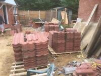 Brand new concrete roof tiles