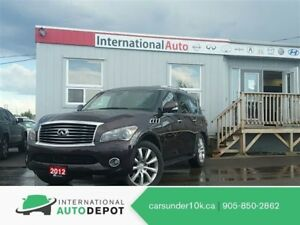 2012 Infiniti QX56 TECH PKG | 8 PASS | LANE DEPARTURE | DVD | NA