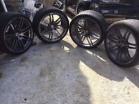 """Genuine Audi 20"""" Inch S Line Alloys with Tyres, ST5, 8T0601025N, 8T0601025L, 9Jx20H2ET29"""