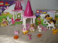 Very Rare Lego Duplo Vintage Princess Sets 4825 and 4826 Construction Toy