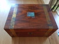 Antique writing box in need of some restoration