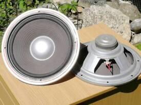 Pair of 12 Inch Hi Fi Woofer Speakers 45W