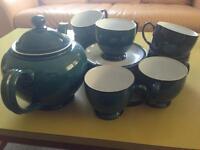 Denby Green Tea Set