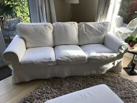 White 3 seater sofa-6 months old . Excellent condition