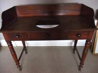 VICTORIAN/EDWARDIAN WASH STAND WITH HOLE CUT FOR BASIN - IDEAL FOR SHABBY CHIC