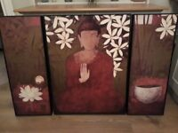 Set of 3 Buddha pictures from NEXT in perfect new condition - Unwanted gift