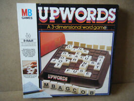 Classic (UPWORDS) 3 Dimensional word game. By MB 1984. Complete.