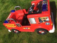 Battery operated fire engine