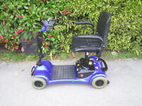 Sterking Little Gem mobility scooter in blue, up to 18 stone user weight, good condition.