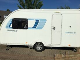 Spite Alpine 2 Caravan 2013. Fitted accessories: Motor Mover, ATC,Tracker, Spare Wheel Carrier
