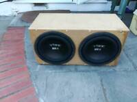 NEW unused Vibe twin bass box 2 x 10 inch subwoofers in sealed box