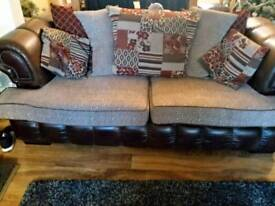 3 seater scatterback settee