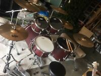 Great condition mapex mars drum kit
