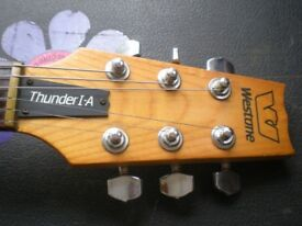 1983 Westone Thunder 1A guitar. Active electronics.