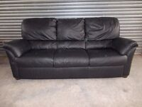 Genuine Natuzzi Italian Black Full Leather 3+2-seater Suite (Sofa)