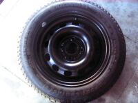 """Ford Fiesta 14"""" steel wheel with as new 185/60 x 14 82H continental tyre"""