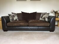2 & 4 seater part material/leather brown