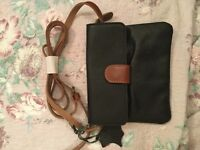 Black and brown leather bag new. Sainsbury TU