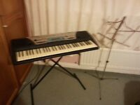 Keyboard and Music Stand
