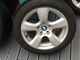 Genuine BMW E60 alloys Good Condition, tyres just legal (runflats) Pick up only
