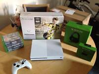 Xbox one s 500GB with 9 games & extras