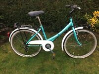 Girls/ Ladies 'A' Racer Town/ Tourer Bike With front & rear Cycle Racks & Dynamo Lights