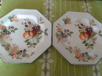 Johnson Bros Fresh Fruits 8 x Large Dinner Plates