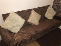 2 lots of Velvet 3 Seater Bed Settee Sofa - With Storage