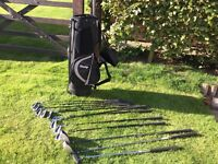 Dunlop 65i set of right handed golf clubs and bag