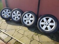 "19"" LAND ROVER ALLOYS AND TYRES SET ~ 225/55/19"