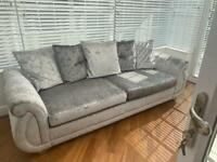 Dfs 4seater sofa and x wide chair and pouffe/footstool