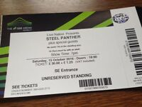 Steel Panther Unused Ticket Stub