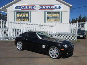 2004 Chrysler Crossfire BLK WITH ORANGE HTD LTHR!! 6 SPD!! CRUIS