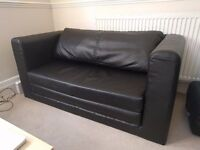 Two seat Sofa-bed IKEA ASKEBY, Black --EXCELLENT CONDITION--