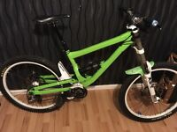 Commencal downhill pushbike