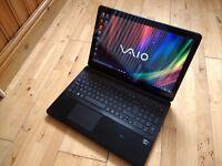 Sony Vaio i5 slimline touchscreen laptop (svc152c29m) unmarked .