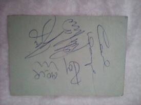 Genuine Autograph of the Sixties Group 'The Move'