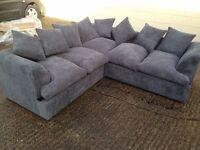 Jamba Grey Fabric Corner Sofa - new