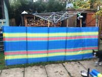 Windbreak 20ft long ideal for camping x2