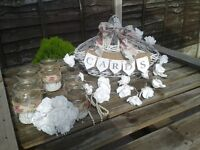 SHABBY CHIC/VINTAGE WEDDING DAY BASKETS FOR YOUR WEDDING DAY CARDS