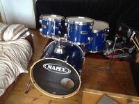 Mapex V series Drum Kit in Blue Crocodile skin Wrap