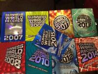 Guinness World Record Books x9 excellent condition , hardback, bargain
