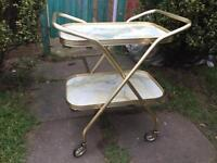 Vintage Folding Drinks / Tea / Serving Trolley