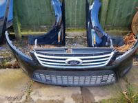Ford Mondeo mk4 09 plates black full front - wings, bumper and bonnet