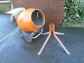 belle cement mixer 110 volts and stand